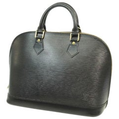 alma  Womens  handbag M52142  noir Leather