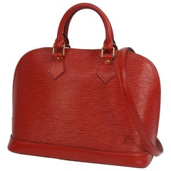 alma  Womens  handbag M52147  castilian red Leather