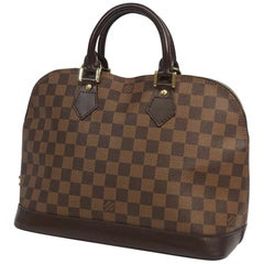 alma  Womens  handbag N53151  Damier ebene Leather