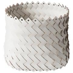 Almeria Medium Square White Basket