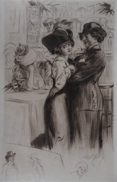 Dancers in Love - Original Etching Handsigned