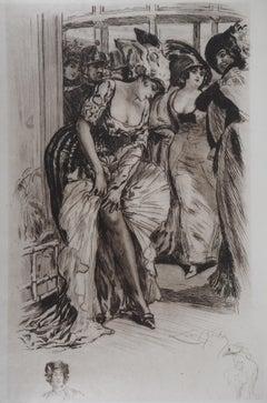 In the Cabaret - Original Etching Handsigned
