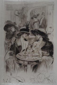 Lunch in Paris - Original Etching Handsigned