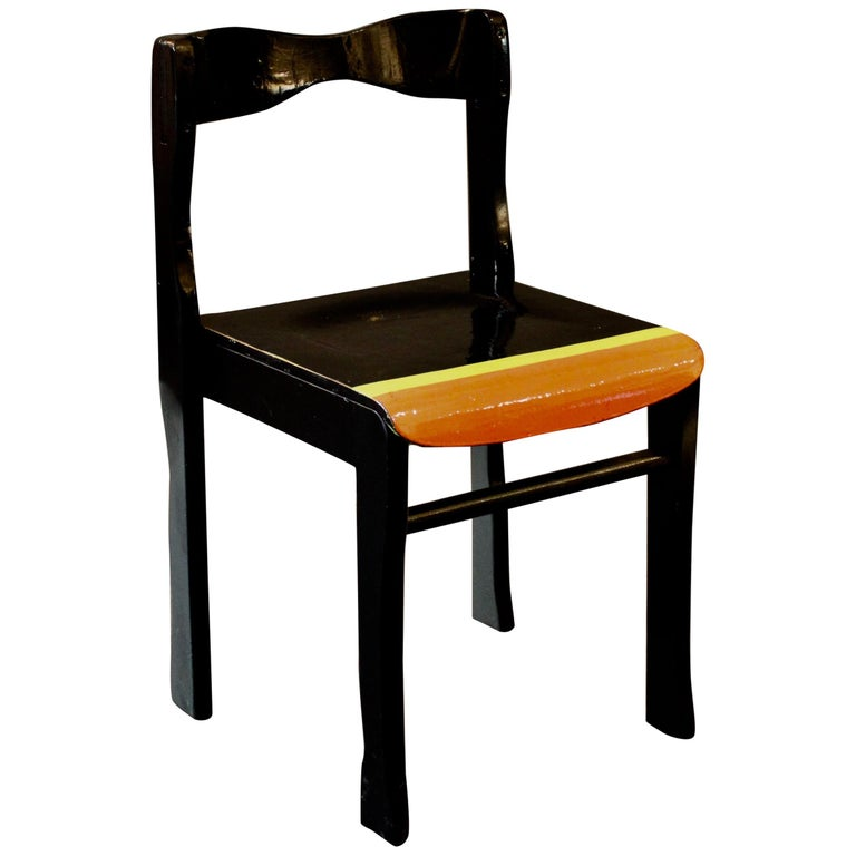 """""""Almost Black"""" Chair by German Artist Markus Friedrich Staab For Sale"""