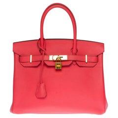 Almost New - Hermès Birkin 30 handbag in Rose Jaïpur Epsom leather, GHW