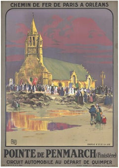 Original Pointe de Penmarch vintage French travel poster