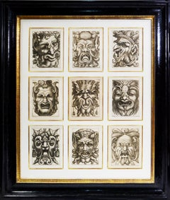 Four Groups of Nine Grotesque Masks