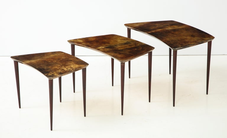 Mid-Century Modern Alo Tura Nesting Tables, Italy For Sale