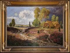 Spring alpine Austrian Landscape, signed oil on canvas
