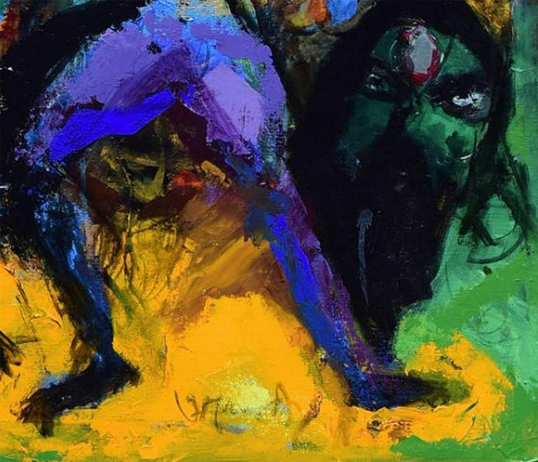 Untitled - Painting by Aloke Sardar