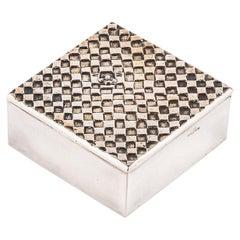 Alone in the World, Seul au Monde, Französische 50 Line Vautrin Versilberte Bronze-Box