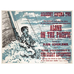 Alone on the Pacific 1967 Academy Cinema London UK Quad Film Poster, Strausfeld