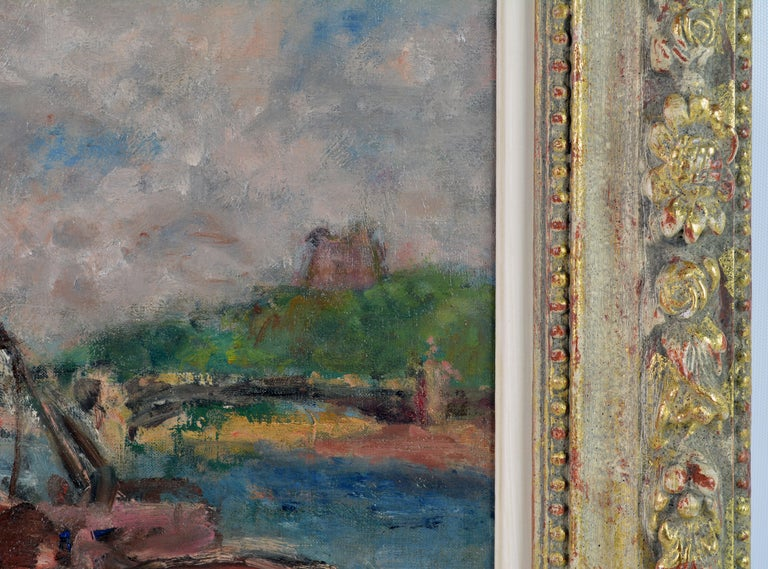 20th Century 'Along the Seine' by Georges d'Espagnat, French Post Impressionist, 1870-1950 For Sale