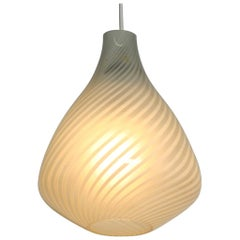 Aloys Gangkofner Midcentury Glass Pendant Lamp Model Tossa by Peill & Putzler