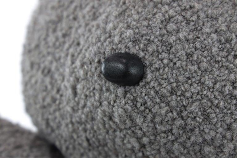 Appliqué Alpaca Bouclé Buddy Bear Throw Pillow, 2020 by Christopher Kreiling Studio For Sale