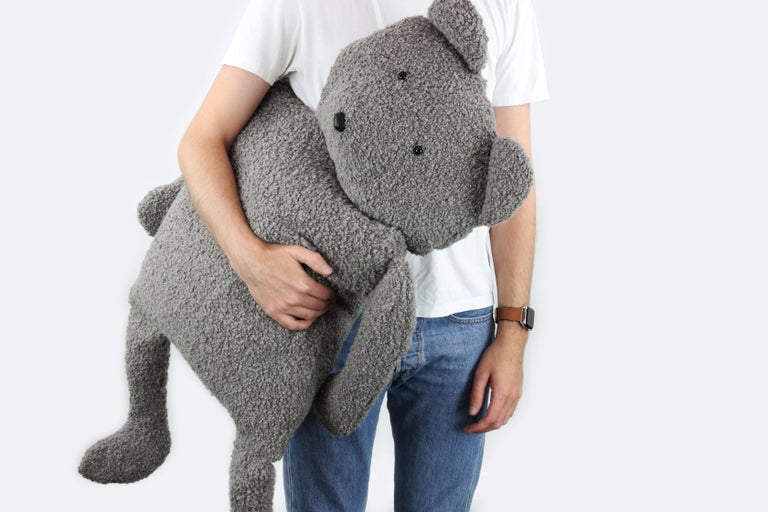 Alpaca Bouclé Buddy Bear Throw Pillow, 2020 by Christopher Kreiling Studio In New Condition For Sale In Pasadena, CA