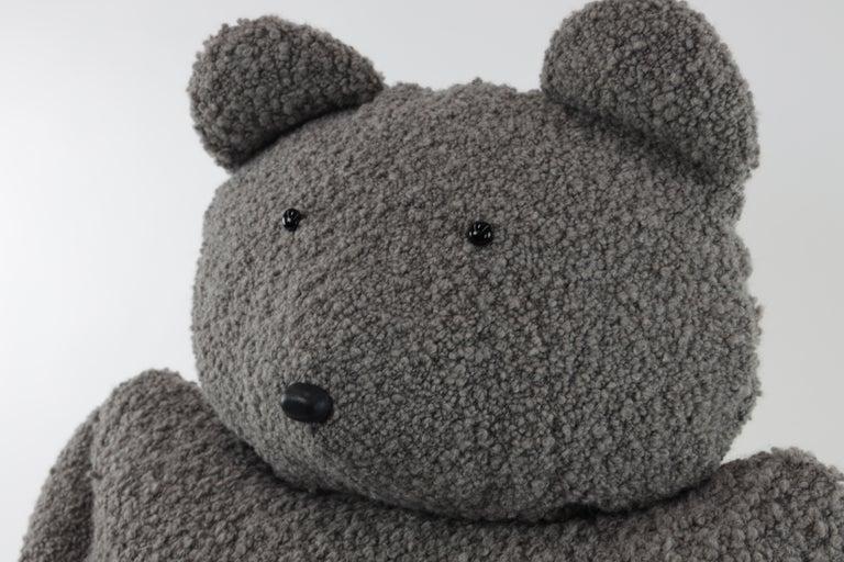 Contemporary Alpaca Bouclé Buddy Bear Throw Pillow, 2020 by Christopher Kreiling Studio For Sale