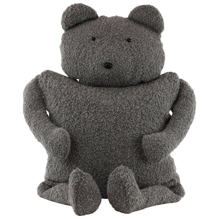 Alpaca Bouclé Buddy Bear Throw Pillow, 2020 by Christopher Kreiling Studio For Sale