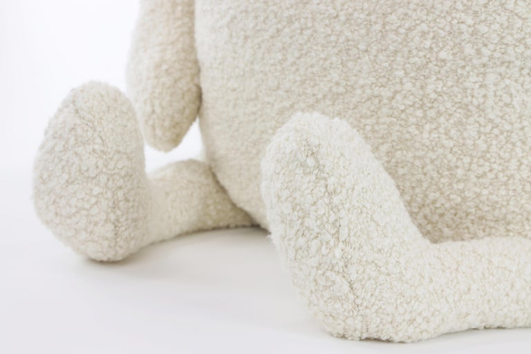 Organic Modern Alpaca Bouclé Polar Bear Buddy Throw Pillow, 2020 by Christopher Kreiling For Sale