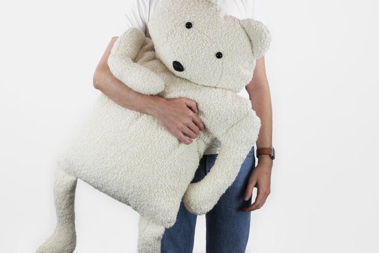 Alpaca Bouclé Polar Bear Buddy Throw Pillow, 2020 by Christopher Kreiling In New Condition For Sale In Pasadena, CA