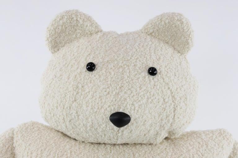Contemporary Alpaca Bouclé Polar Bear Buddy Throw Pillow, 2020 by Christopher Kreiling For Sale