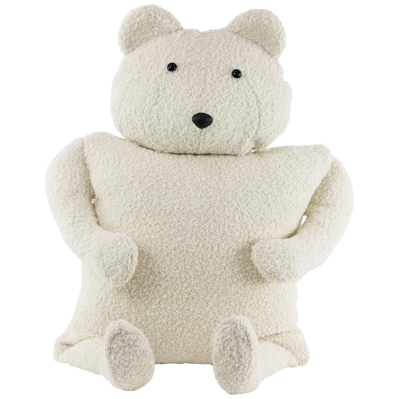 Alpaca Bouclé Polar Bear Buddy Throw Pillow, 2020 by Christopher Kreiling