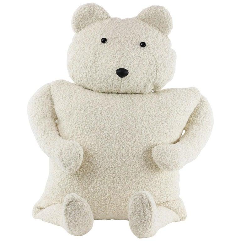 Alpaca Bouclé Polar Bear Buddy Throw Pillow, 2020 by Christopher Kreiling For Sale