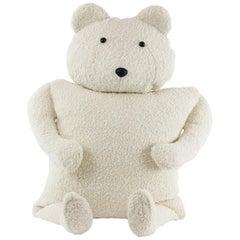 Alpaca Bouclé Polar Bear Buddy Throw Pillow, 2020 by Christopher Kreiling Studio