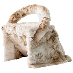 Alpaca Fur Chair or Dining Chair by Guillermo Santomà, Spain 2018 Fur upholstery