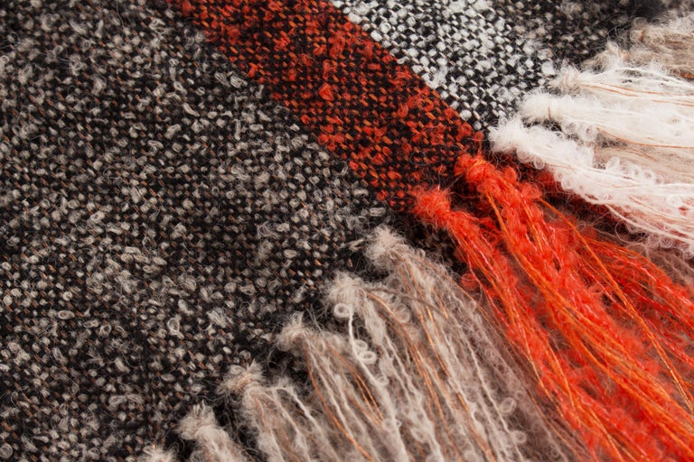 Modern Handwoven Alpaca Throw For Sale