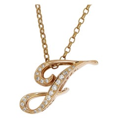 Alpha 0.32 Carat Diamond Nombre Initial Necklace