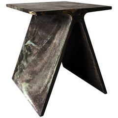 Alpha Q End Table, New Skies Colorway, Concrete for Indoor or Outdoor by Mtharu