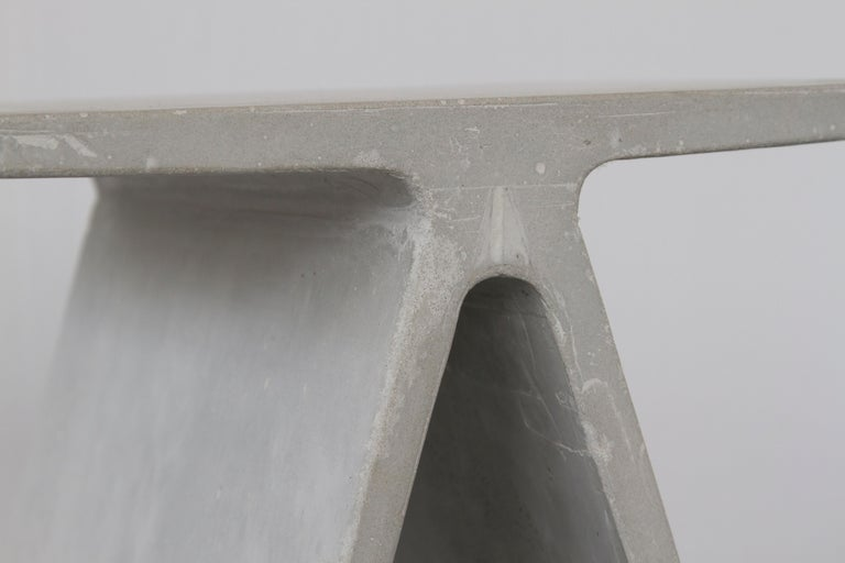 Alpha Q End Table or Stool, Concrete Chapa Ed. for Indoor or Outdoor by Mtharu For Sale 6