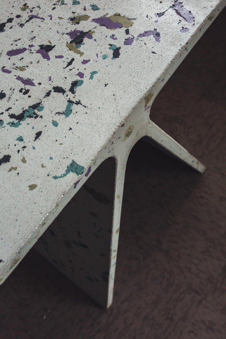 Minimalist Alpha Q End Table or Stool, Concrete Chapa Ed. for Indoor or Outdoor by Mtharu For Sale
