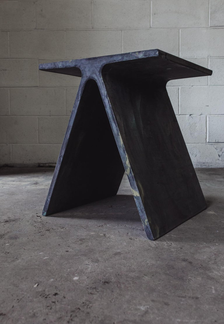 Alpha Q End Table or Stool, Concrete Chapa Ed. for Indoor or Outdoor by Mtharu For Sale 1