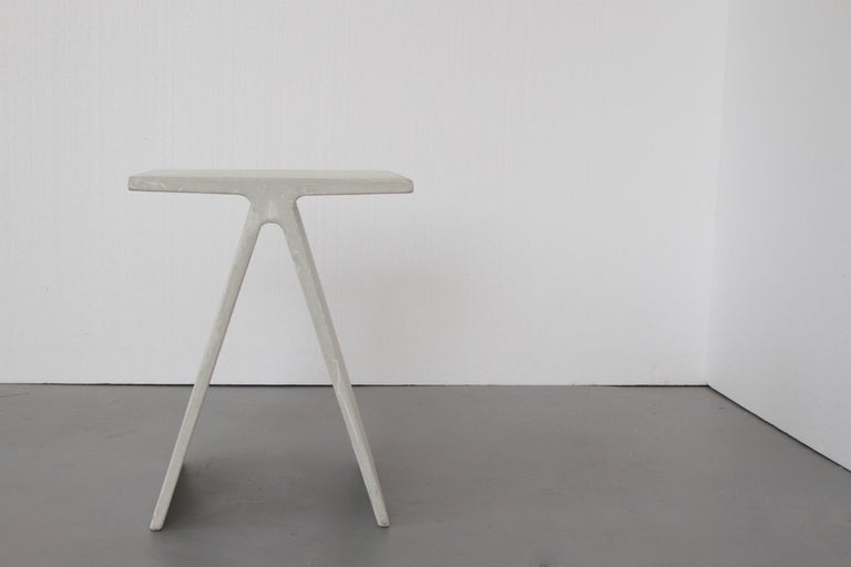Minimalist Alpha Q End Table or Stool, Grey Concrete for Indoor or Outdoor by Mtharu For Sale