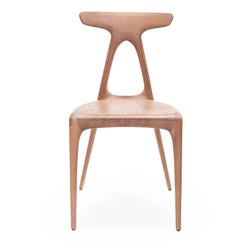 Alpha, Solid Oak Stackable Contemporary Dining Chair by Made in Ratio