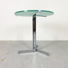 Alpha Table by Hans Eichenberger, Chrome and Glass