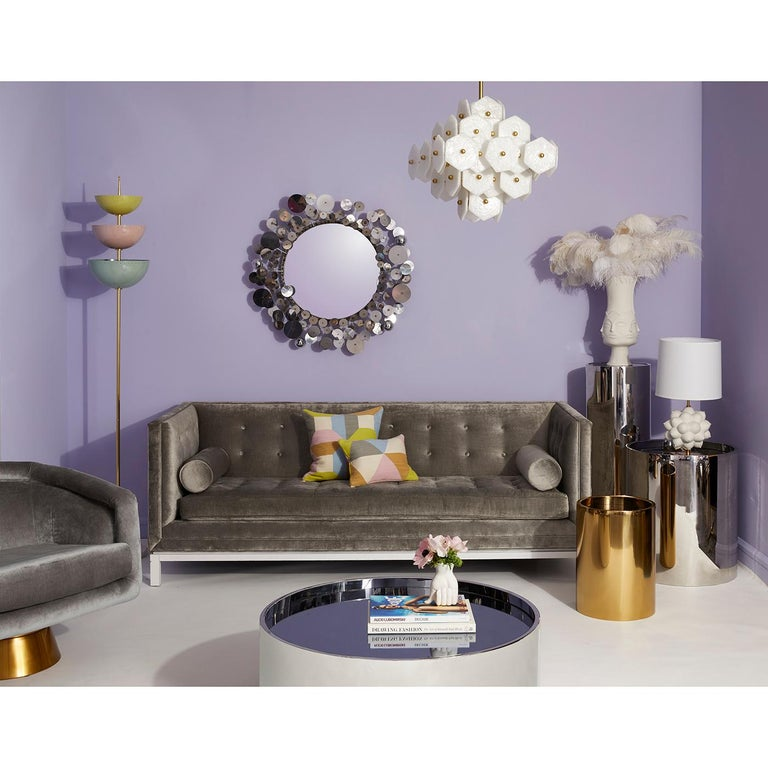 Modern Alphaville Stainless Steel Petite Accent Table For Sale