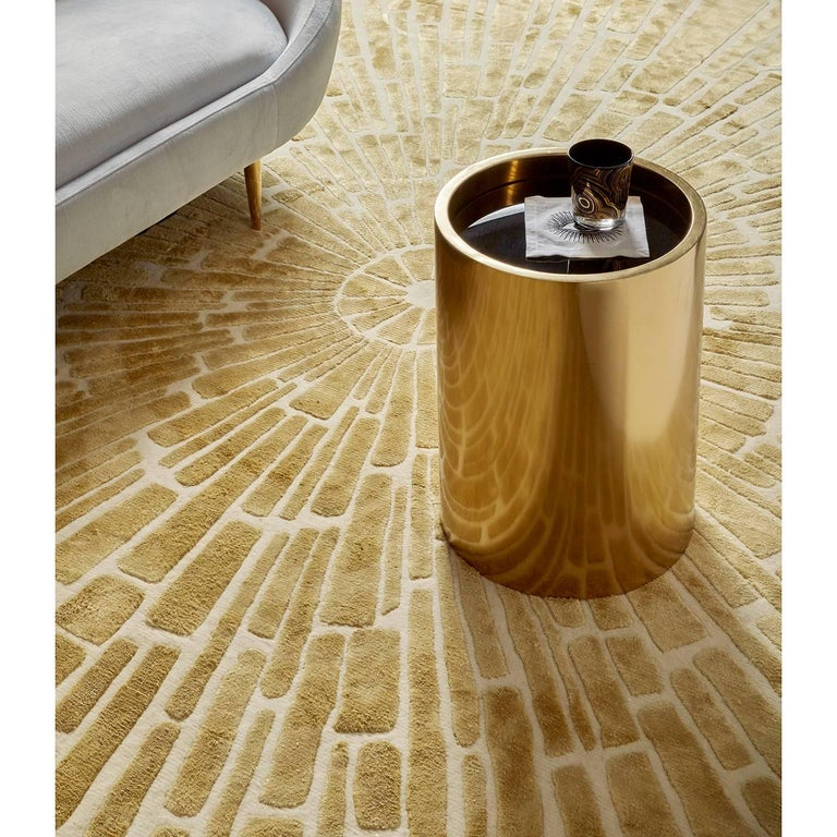 Polished Alphaville Stainless Steel Petite Accent Table For Sale