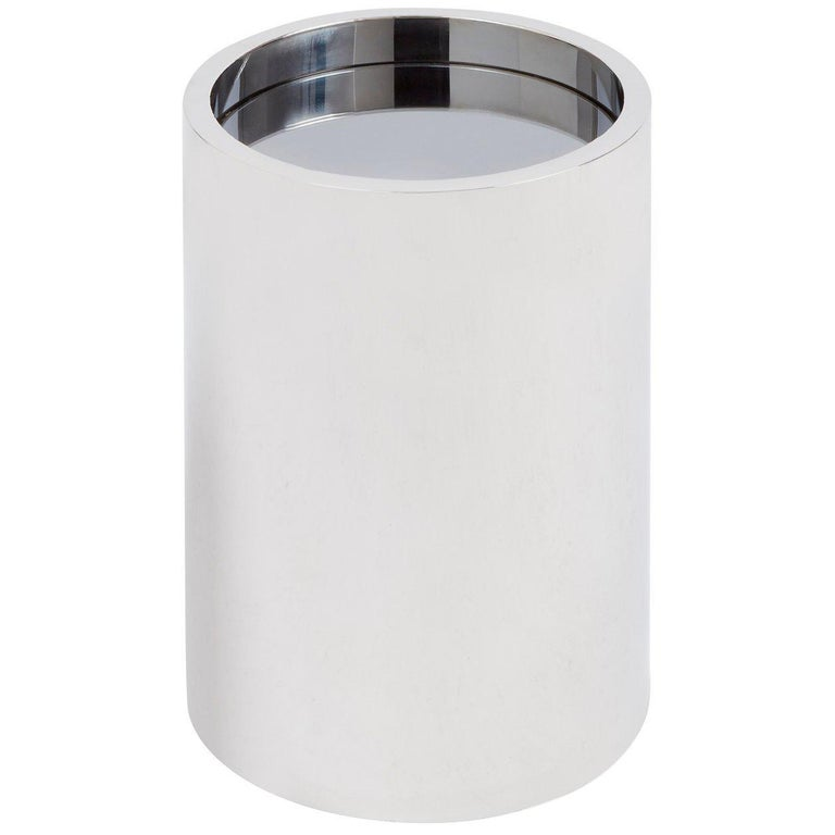 Alphaville Stainless Steel Petite Accent Table For Sale