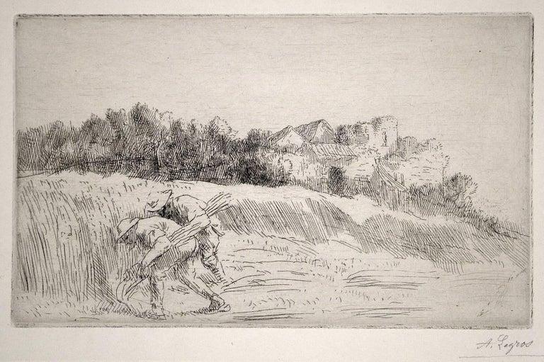 Alphonse Legros Figurative Print - Les Moissonneurs (The Reapers)