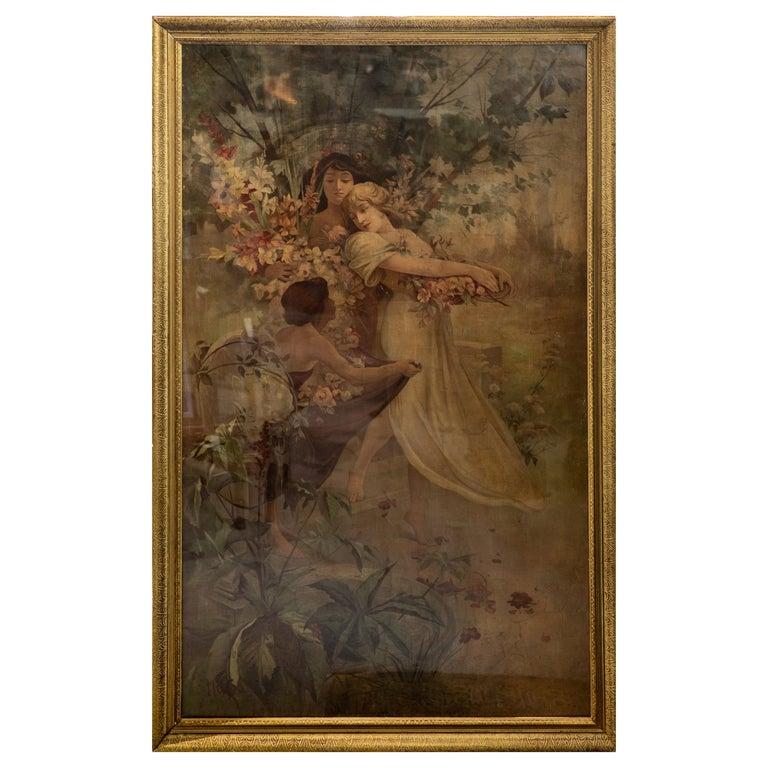 "Alphonse Mucha Chromolithograph ""Flower"", 1894 For Sale"