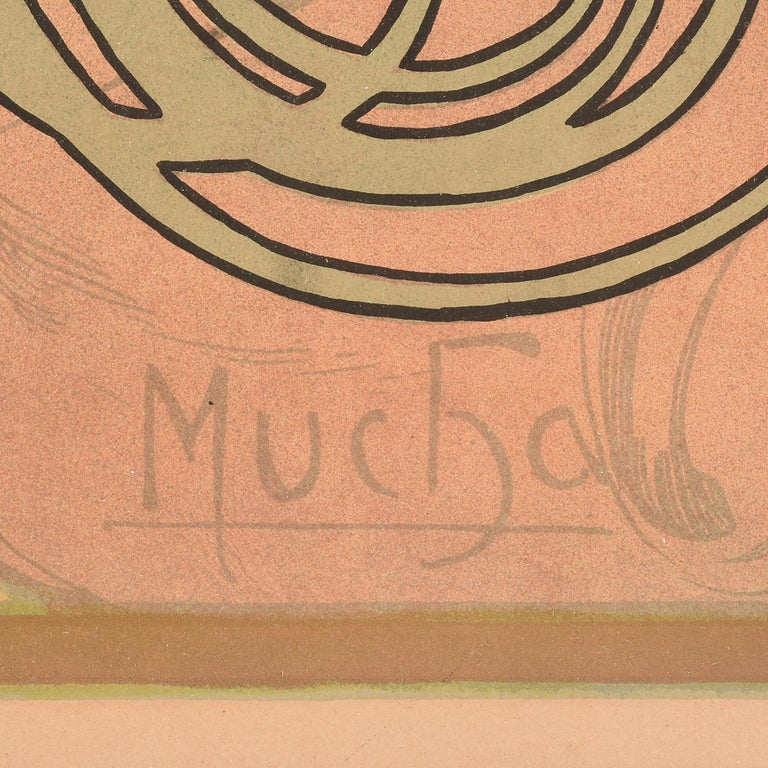 Art Nouveau Alphonse Mucha JOB Original Poster, 1898 For Sale