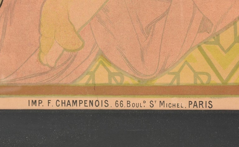 French Alphonse Mucha JOB Original Poster, 1898 For Sale