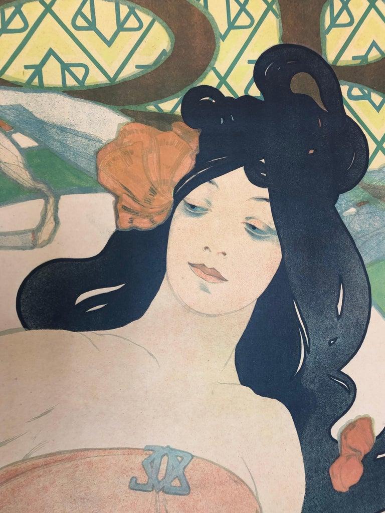 Late 19th Century Alphonse Mucha JOB Original Poster, 1898 For Sale