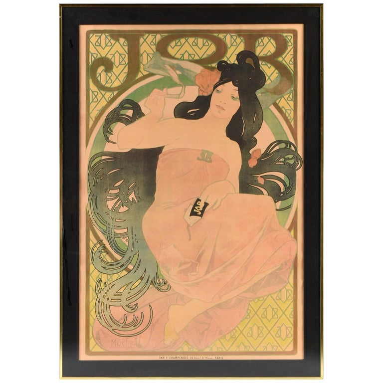 Alphonse Mucha JOB Original Poster, 1898 For Sale