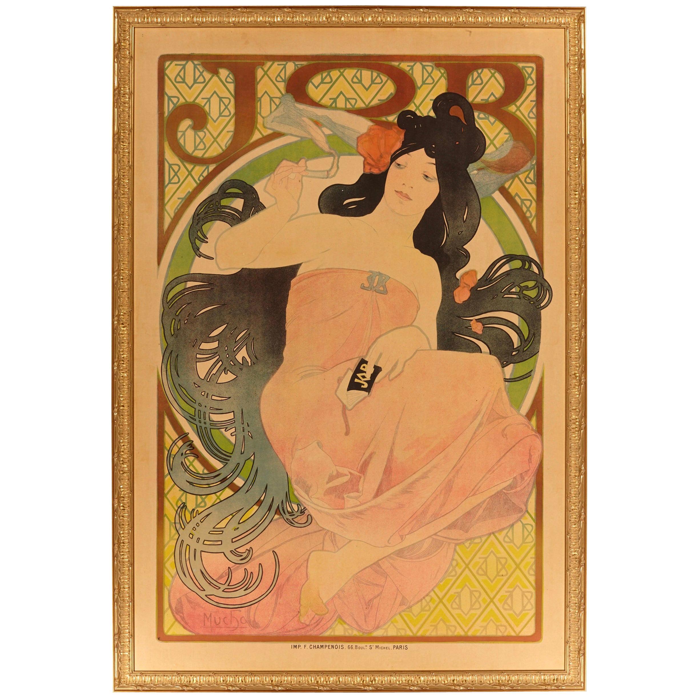 "Alphonse Mucha Original ""JOB"" Poster 1898 Art Nouveau Classic"