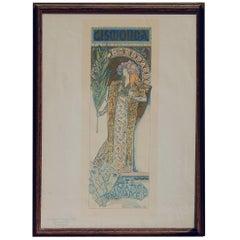 Alphonse Mucha Original Lithograph, 1896 - Sarah Bernhardt Play Poster