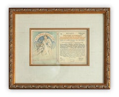 Alphonse Mucha Komensky Society Lottery Note design, c. 1925
